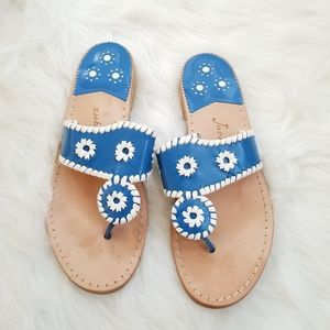 Blue & White Navajo Jack Roger's Sandals